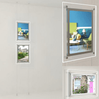 Led Acryl- Postertaschen- Schaufenster Displays 2 x DIN A3