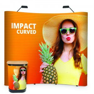 Pop-Up Faltdisplay Impact Bundel 3x3 mit Digitaldruck
