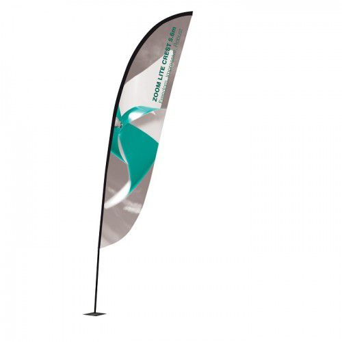 Beachflag Zoom Segel 3.4m inkl. Digitaldruck