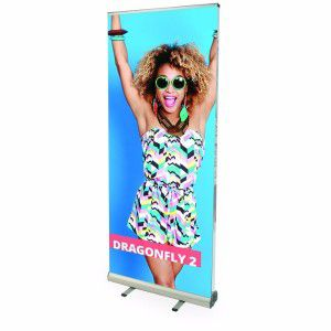 Doppelseitiger RollUp Banner Dragonfly 850mm