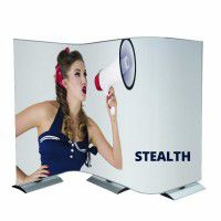 Mobiles Messedisplay Stealth 3m x 2m inkl. Digitaldruck