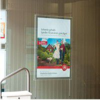 Acryl LED Postertaschen 8 x DIN A4 Schaufenster Displays