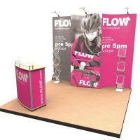 Mobiler Messestand mit PVC-Digitaldruck