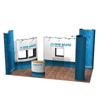 Pop-Up Messestand 3m x 6m inkl. Digitaldruck