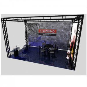 Traversen Messestand 4m x 2,5m x 3m