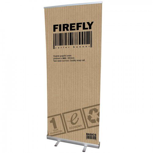 Roll-Up Bannerdisplay Firefly 800mm inkl. Digitaldruck