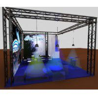 Traversen Messestand 5mx5m Eckstand